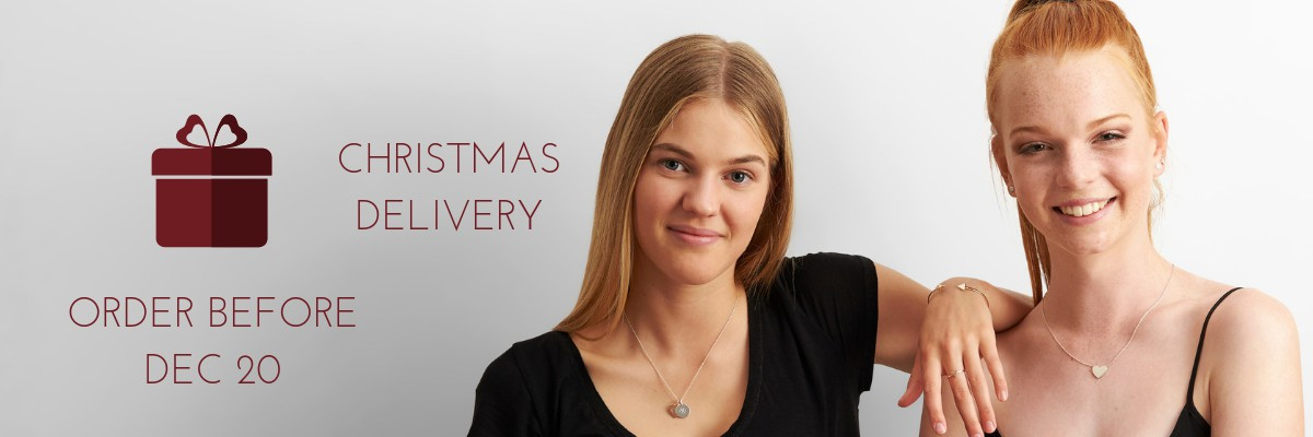 christmas delivery engraved jewellery, engraved christmas gifts