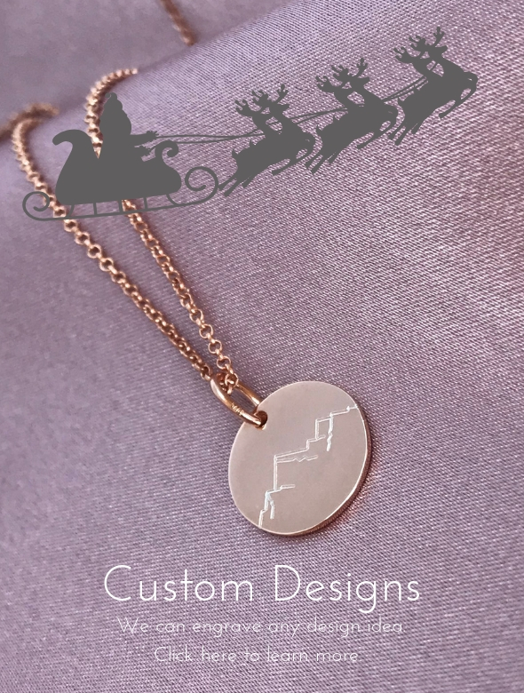 custom engraving designs at The Silver Store engraved necklaces