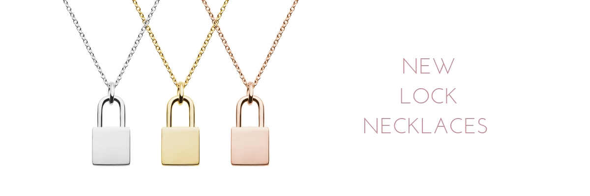 engraved lock necklace