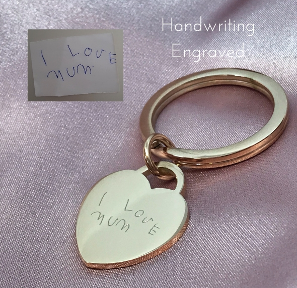 keyring handwriting engraved
