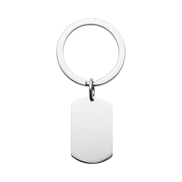 steel dog tag keyring can be engraved with photo