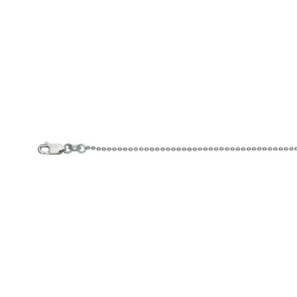 45cm long sterling silver 1.5mm thick ball chain