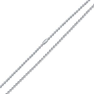 2.5mm surgical steel ball chain 55cm long