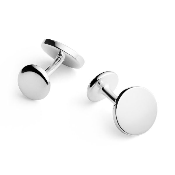 solid sterling silver cufflinks engraved