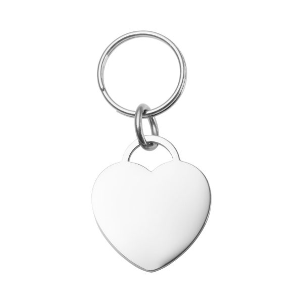 Small Engraved Heart Pet Tag