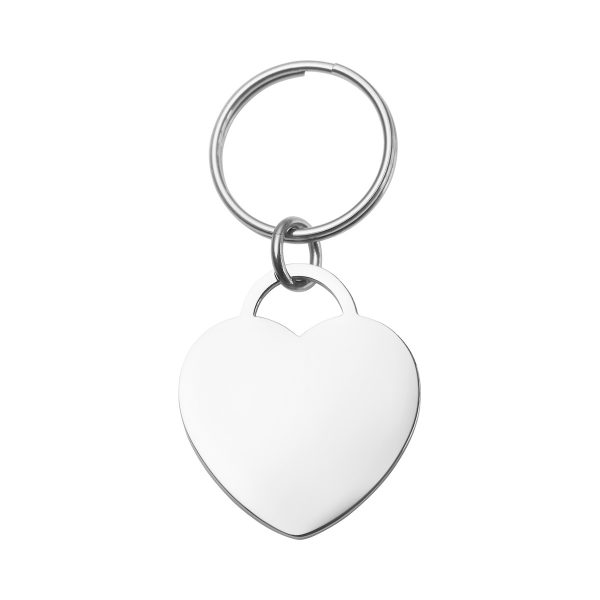 large engraved heart pet tag