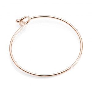 rose gold plated bangle
