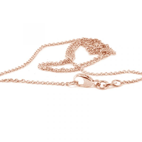 rose gold cable chain 60cm
