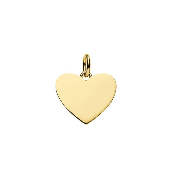 yellow gold plated heart pendant