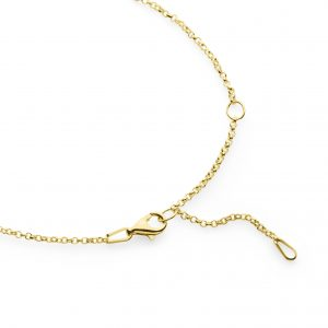 yellow gold plated chain 50cm
