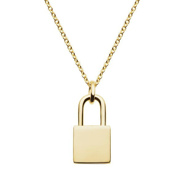 yellow gold pendant with cable chain