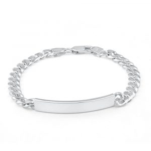 mens 250 gauge Id bracelet sterling silver