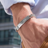 20cm sterling silver ID bracelet