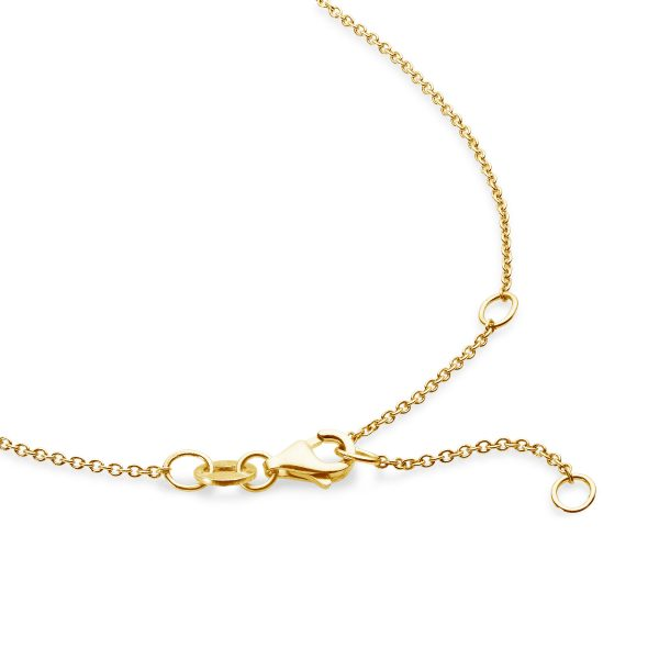 yellow gold cable chain 42cm