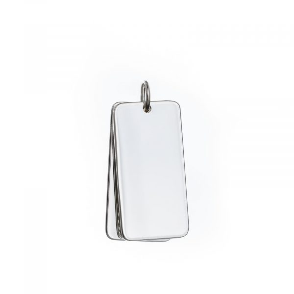 925 silver double dog tag pendants