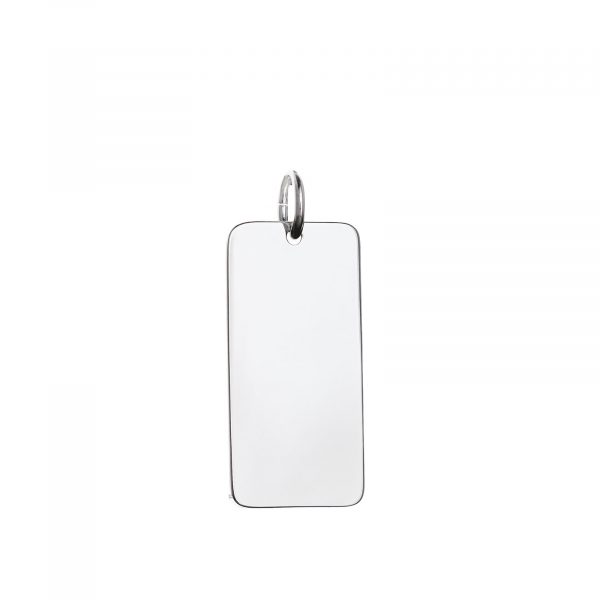 mens sterling silver 30mm bar pendant
