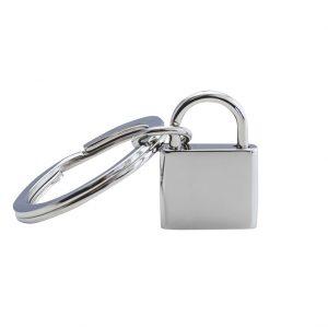 engraved padlock keyring standing