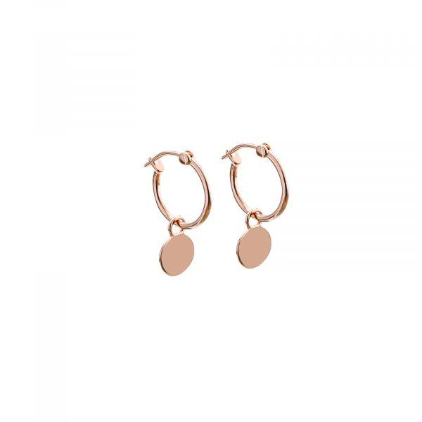 Mini disc hoop earrings
