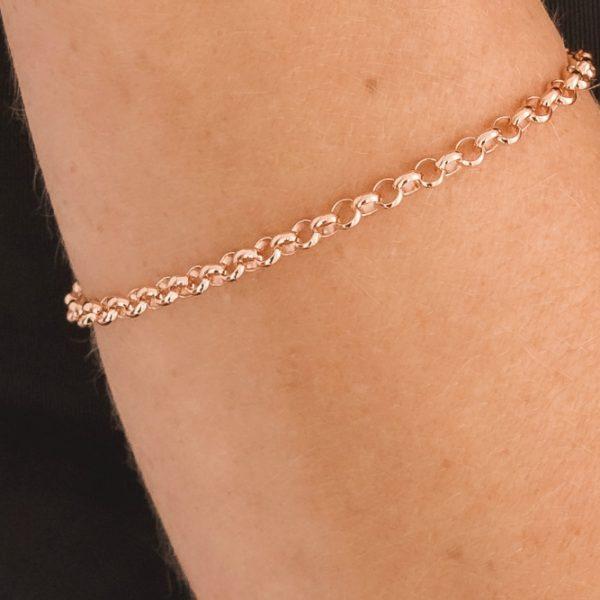 Rose Gold Belcher Chain Bracelet