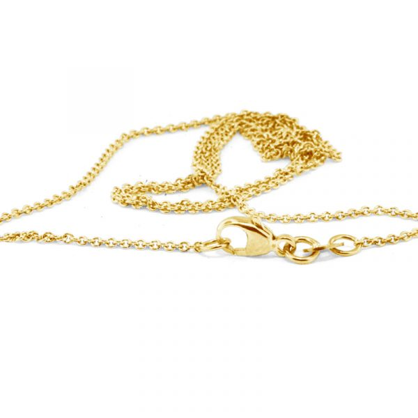 60cm yelllow gold cable chain