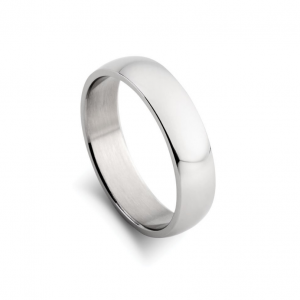 stainless steel 6mm wide mens ring