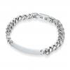 mens engraved steel id bracelet