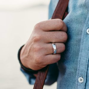 sterling silver 6mm wide mens ring