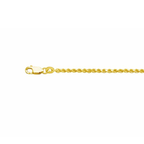 yellow gold plated french rope bracelet