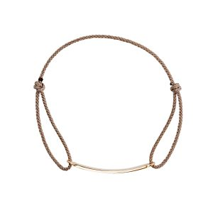 rose gold cord id bracelet with cord