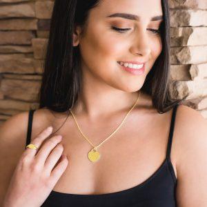 yellow gold slider chain