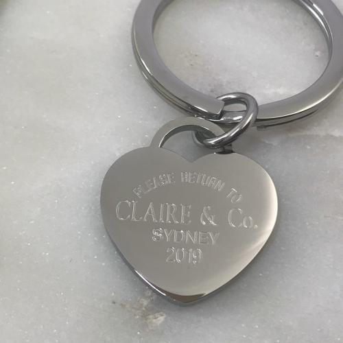 always & forever engraved on heart necklace